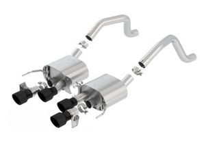 15-19 Z06 & 17-19 GS w/Manual Borla ATAK Exhaust System w/4.25in Round Intercooled Tips - Black (NPP Option)