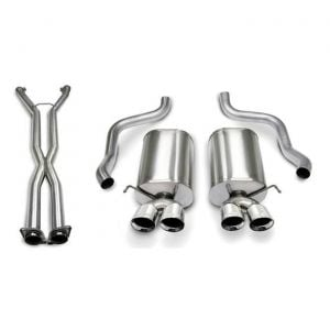 05-08 LS2/LS3 Manual & A4 Auto Corsa Sport Cat-Back Exhaust System - Quad 3.5in Polished Tips
