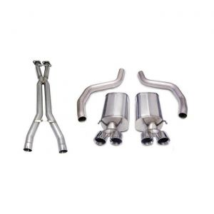 06-11 LS7/LS9 Corsa Sport Cat Back Exhaust System - Polished 4in Pro series Tips