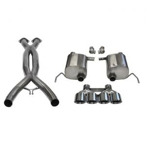 14-19 LT1 & 17-19 GS w/Auto Corsa Double Helixx X-Pipe & Sport Valve-Back Exhaust System w/Polished 4.5in Tips