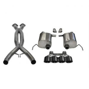 14-19 LT1 & 17-19 GS w/Auto Corsa Double Helixx X-Pipe & Sport Valve-Back Exhaust System w/Black PVD 4.5in Tips