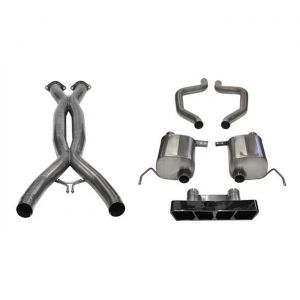 15-19 Z06, ZR1 & 17-19 GS w/Manual Corsa Double Helixx X-Pipe & Sport Axle Back Exhaust System w/Black PVD Polygon Tip