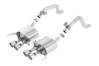 "14-18 BORLA S-Type Exhaust System w/4.25"" Round Angle Cut Tips (Default)"