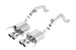 "14-18 BORLA ATAK Exhaust System w/4.25"" Round Intercooled Tips (No Valves) (Default)"