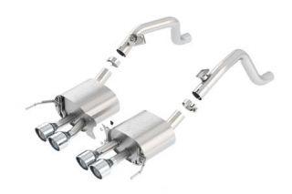 "14-18 BORLA ATAK Exhaust System w/4.25"" Round Angle Cut Tips (No Valves) (Default)"