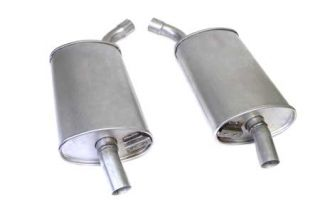 """63-67 2 1/2"""" Reproduction Oval Mufflers (Default)"""