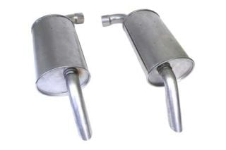 """74 2"""" Reproduction Round Mufflers (Default)"""