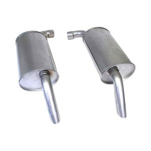 """74 2 1/2"""" Reproduction Round Mufflers (Default)"""