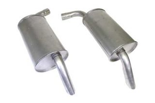 """75-77 2 1/4"""" Reproduction Round Mufflers (Default)"""