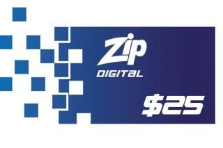 $25 Zip Gift Card - Digital Version