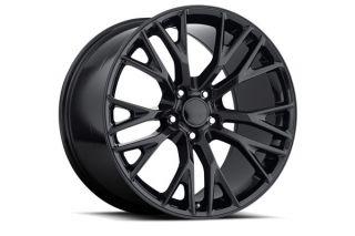 "88-04 ""C& Z06"" Gloss Black Wheel Set"