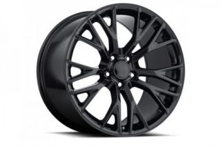 """97-04 """"C7 Z06 Style"""" Gloss Black Wheel Set (18x8.5""""/19x10"""")"""