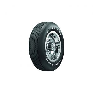 """68-72 FR70-15 Radial Firestone """"Wide Oval"""" Tire - Raised White Letters"""