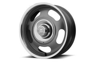 68-82 17x9 American Racing Aluminum Rally Wheel ( Grey w/Polished Lip)