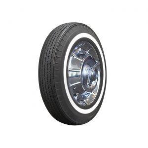 62-64 670R15 American Classic Bias Look Radial Tire - 1in Whitewall