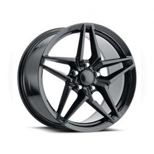 09-13 ZR1/Z06 & 15-19 Z06/GS C7 ZR1 Style Carbon Black Wheel Set (19x10in/20x12in)
