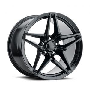 09-13 ZR1/Z06 & 15-19 Z06/GS C7 ZR1 Style Satin Black Wheel Set (19x10/20x12)