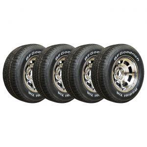 80-82 Aluminum Wheel Set & Tire Package (Select Tire Application)