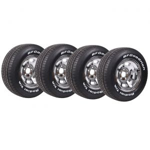 76-82 Chrome Aluminum Wheels & Tire Package (Select Tire Package)