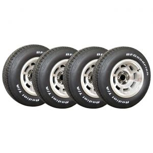 76-79 Aluminum Wheel Set & Tire Package (Select Tire Application)
