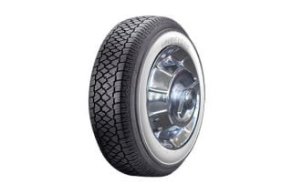 """56-61 205/75-15 Goodyear Classic Radial Tire - 2 3/4"""" White"""