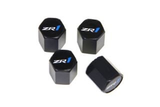09-13 ZR1 Valve Stem Caps (Black) (Default)