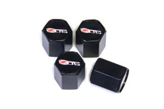 06-13 Z06 Valve Stem Caps (Black) (Default)