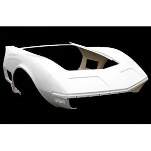 1970-1972 Corvette One-Piece Fiberglass Front End Assembly (HL)