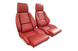 84-88 STD Mounted Seat Covers & Foam - Perforated (Leather-Like)