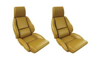 84-88 STD Mounted Seat Covers & Foam - Non-Perforated (Leather)