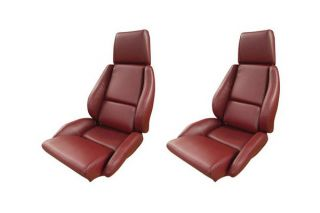 84-88 STD Mounted Seat Covers & Foam - Non-Perforated (Leather-Like)