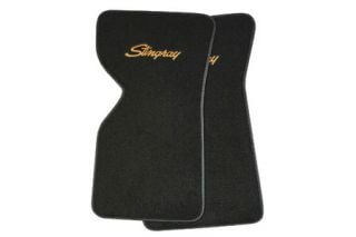 "1970-1982 Corvette ACC Floor Mats w/Embroidered ""Stingray"" Emblem (Cut-Pile)"