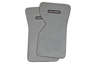 "1970-1982 Corvette ACC Floor Mats w/Embroidered ""Corvette"" Emblem (Cut-Pile)"