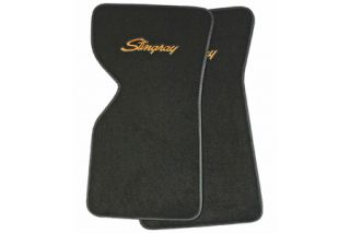 "1968-1976 Corvette ACC Floor Mats w/Embroidered ""Stingray"" Emblem (Loop Design)"