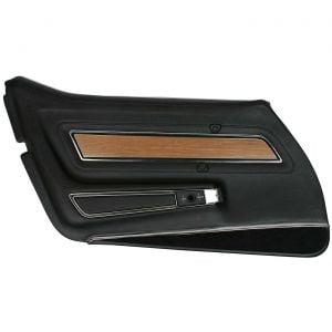 1976 Corvette Deluxe Door Panel w/Teak Insert (Complete)