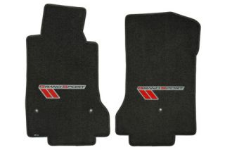 2010-2013E Corvette Lloyd Ultimat Floor Mats w/Grand Sport Logo (Red/Black)