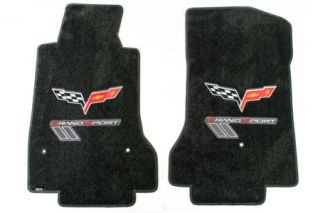 2010-2013ECorvette Lloyd Ultimat Floor Mats w/C6 Emblem & Grand Sport (Red/Silver)
