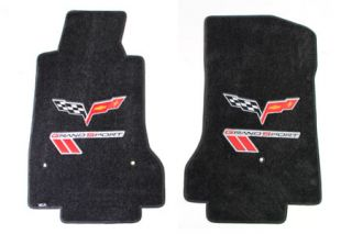 2010-2013E Corvette Lloyd Ultimat Floor Mats w/C6 Emblem & Grand Sport (Red/Black)