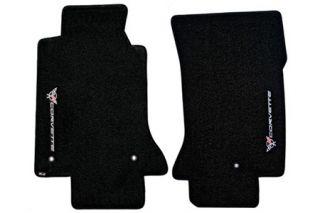 1997-2004 Corvette Lloyd Velourtex Floor Mats w/Sideways C5 Emblem