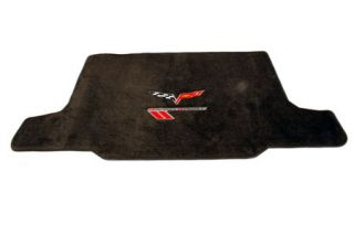 2010-2013 Corvette Lloyd Velourtex Cargo Mat w/C6 Emblem & Grand Sport (Red/Black Emblem)