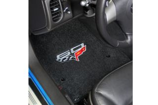2013E Corvette Lloyd Velourtex Floor Mat w/60th Logo (60th above flags)