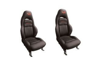 97-04 Sport Leather/Vinyl Seat Covers w/Embroidered Emblem