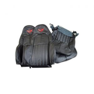 97-04 STD Leather/Vinyl Seat Covers w/Embroidered Emblem