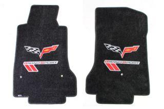 2013L Corvette Lloyd Ultimat Floor Mats w/Red-Black Grand Sport & C6 Flags