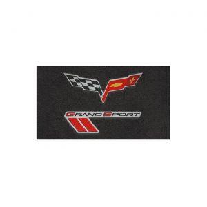 13L Lloyd Velourtex Floor Mats w/C6 Emblem & Grand Sport (Red/Black Emblem)