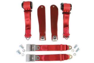 1968L-1969 Corvette Seat Belt Set w/Shoulder Harness (Reproduction)