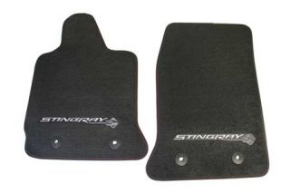2014-2018 Corvette Stingray GM Front Floor Mats (Black)