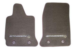2014-2018 Corvette Stingray GM Front Floor Mats (Brownstone)