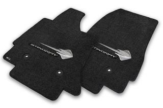 14-18 Lloyd Floor Mats w/C7 Stingray & Stingray Script (Accessory Color_Script Color)