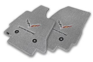 14-18 Lloyd Floor Mats w/C7 Cross Flag & Corvette Script (Accessory Color_Script Color)